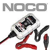 NOCO Genius G750EU 6V / 12V .75 Amp UltraSafe Smart Cargador y Mantenedor de Batería, Negro, Gris, Rojo
