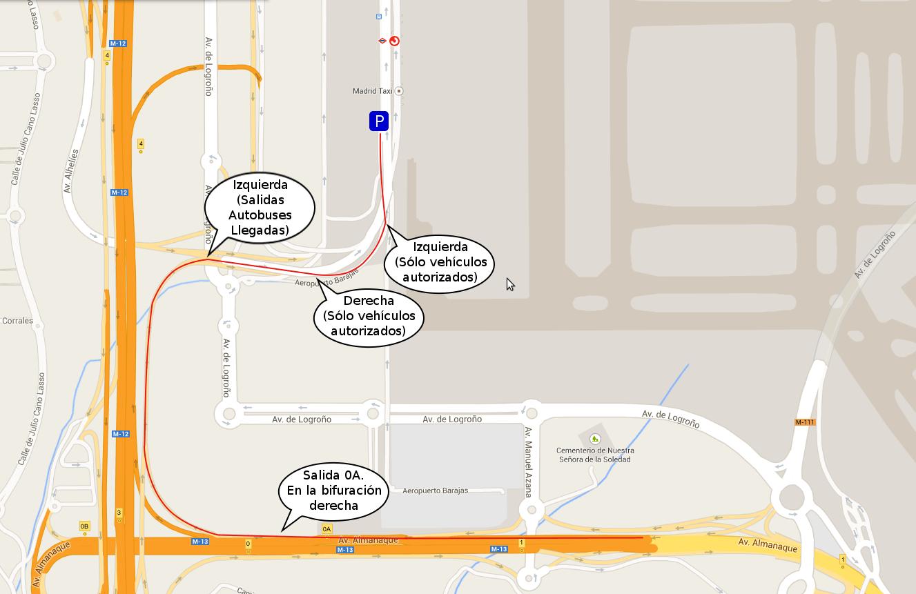 Mapa acceso T4 motos