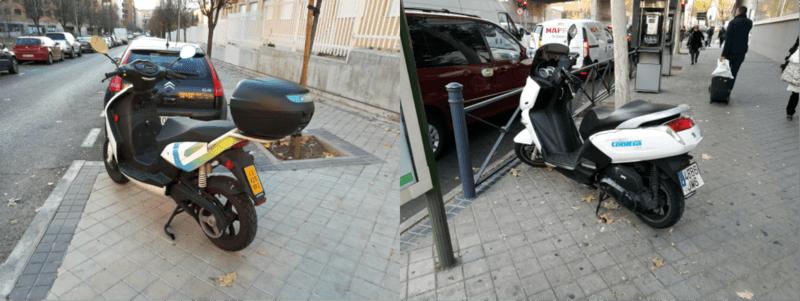 fotos alquiler motos electricas cooltra vs ecooltra